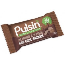 Almonds & Raisin Raw Choco Brownie 50g Pulsin