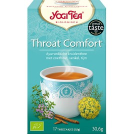 Throat Comfort 17x1,8g Yogi Tea doos 6 x 17 zakjes